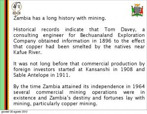 Zambia has a long history with mining