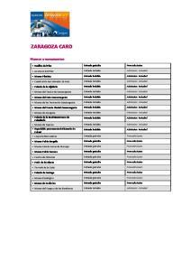 ZARAGOZA CARD. Museos y monumentos. Basílica del Pilar Entrada gratuita Free admission. Ascensor del Pilar Entrada incluida Admission included