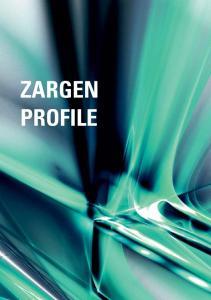 ZARGEN 4. ZARGEN & PROFILE PROFILE