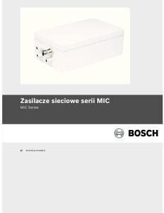 Zasilacze sieciowe serii MIC MIC Series. Instrukcja instalacji