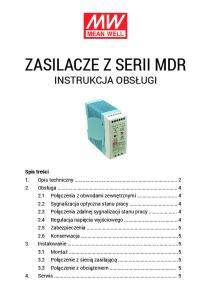 Zasilacze z serii MDR Instrukcja obsługi