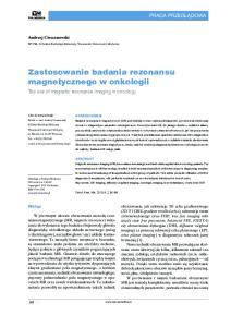 Zastosowanie badania rezonansu magnetycznego w onkologii