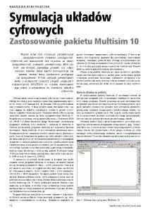 Zastosowanie pakietu Multisim 10