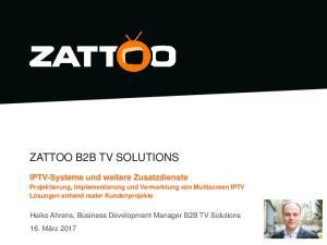 ZATTOO B2B TV SOLUTIONS