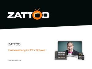 ZATTOO. Onlinewerbung im IPTV Schweiz