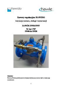 Zawory regulacyjne HAWIDO