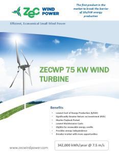 ZECWP 75 KW WIND TURBINE