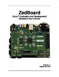 ZedBoard (Zynq Evaluation and Development) Hardware User s Guide