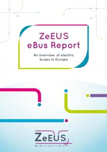 ZeEUS ebus Report. An overview of electric buses in Europe