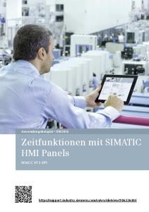 Zeitfunktionen mit SIMATIC HMI Panels