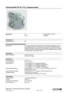 Zeitrelais Modul DC V, programmierbar