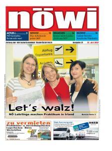 Zeitung der Wirtschaftskammer Niederösterreich Ausgabe Juli 2007