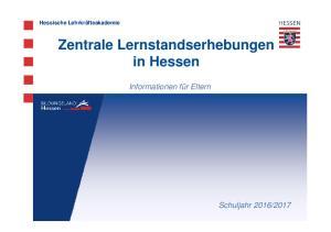 Zentrale Lernstandserhebungen in Hessen
