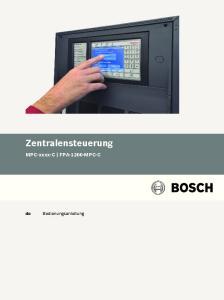 Zentralensteuerung MPC-xxxx-C FPA-1200-MPC-C