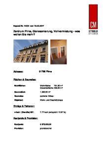 Zentrum Pirna, Glanzsanierung, Vollvermietung - was wollen Sie mehr?