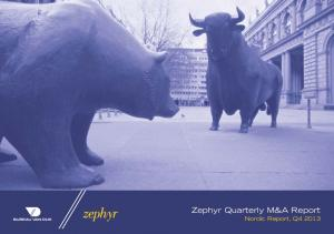 Zephyr Quarterly M&A Report