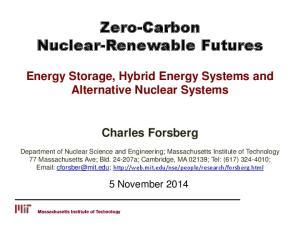 Zero-Carbon Nuclear-Renewable Futures