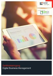 Zertifikatslehrgang Digital Business Management. In Kooperation mit
