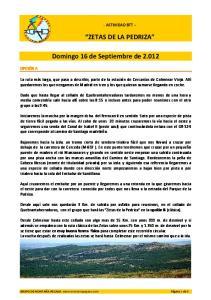 ZETAS DE LA PEDRIZA. Domingo 16 de Septiembre de 2.012