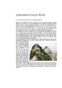 Zhaobao-Taiji Reise. Die Reise zum Huangshan