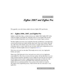ZigBee 2007 and ZigBee Pro
