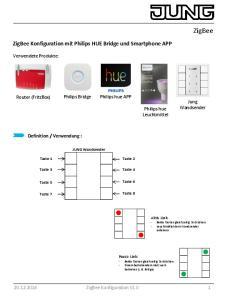 ZigBee Konfiguration mit Philips HUE Bridge und Smartphone APP
