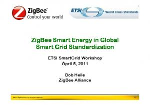 ZigBee Smart Energy in Global Smart Grid Standardization