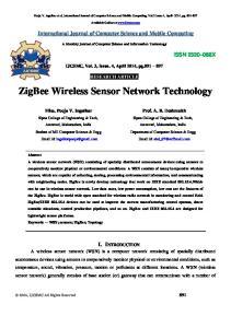 ZigBee Wireless Sensor Network Technology