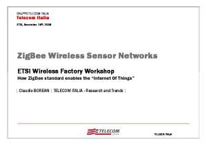 ZigBee Wireless Sensor Networks