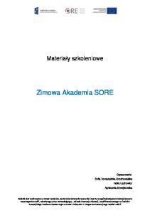 Zimowa Akademia SORE