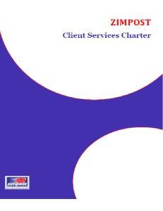 Zimpost Client Services Charter