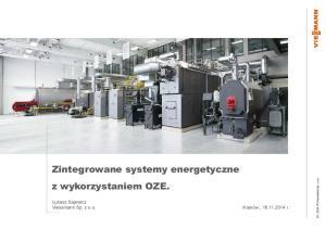 Zintegrowane systemy energetyczne z wykorzystaniem OZE