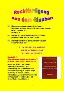 ZITATE ELLEN WHITE BIBELKOMMENTAR ELLEN. G. WHITE
