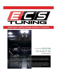 Ziza Interior Lighting Package Installation Procedures