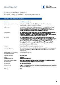 ZKB Tracker-Zertifikat Dynamisch auf einen Emerging Markets Currencies Bond Basket