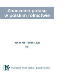 Znaczenie potasu w polskim rolnictwie