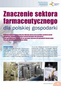 Znaczenie sektora farmaceutycznego