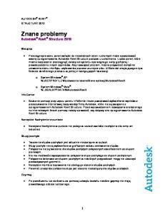 Znane problemy Autodesk Revit Structure 2010