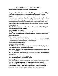 Zona de octubre 2012 Newsletter