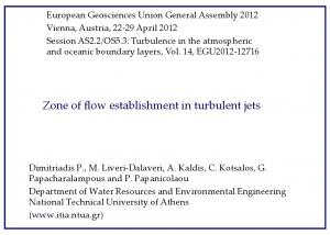 Zone of flow establishment in turbulent jets