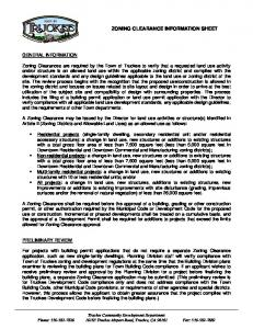 ZONING CLEARANCE INFORMATION SHEET