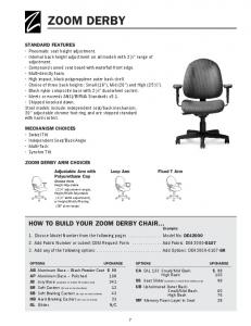 ZOOM DERBY HOW TO BUILD YOUR ZOOM DERBY CHAIR