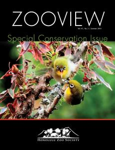 ZOOVIEW. Vol. 47, No. 2 Summer Special Conservation Issue