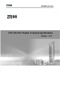 ZTE MG3431 Module Technical Specifications