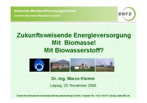 Zukunftsweisende Energieversorgung Mit Biomasse! Mit Biowasserstoff?