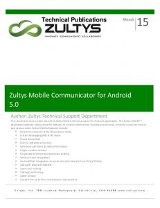 Zultys Mobile Communicator for Android 5.0