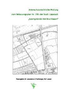 zum Bebauungsplan Nr. 285 der Stadt Lippstadt