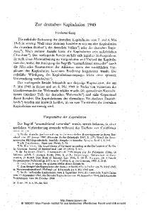 Zur deutschen Kapitulation 1945
