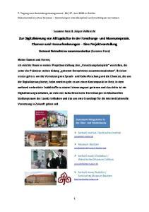 Zur Digitalisierung von Alltagskultur in der Forschungs- und Museumspraxis. Chancen und Herausforderungen Eine Projektvorstellung