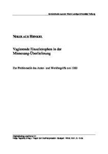 Zur Problematik des Autor- und Werkbegriffs um 1200